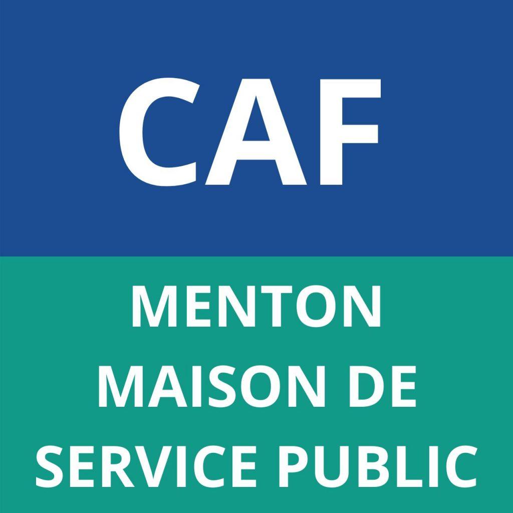 CAF MENTON MAISON DE SERVICE PUBLIC