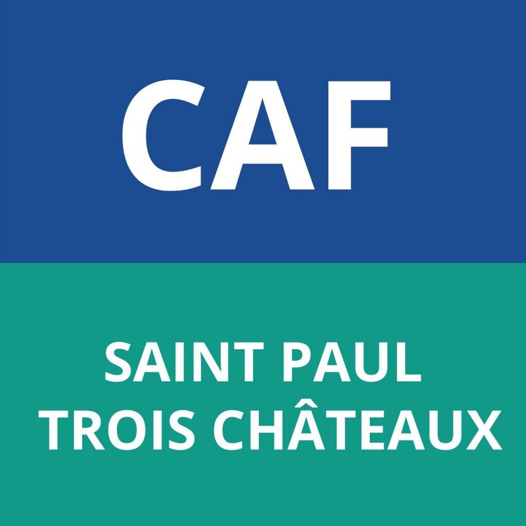 CAF SAINT PAUL TROIS CHÂTEAUX