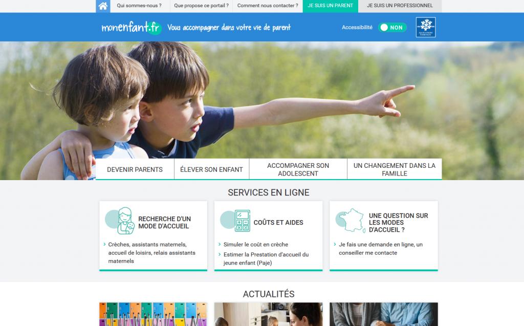 Accueil du site monenfant.fr