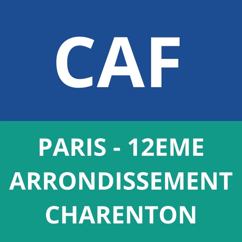 caf PARIS - 12EME ARRONDISSEMENT - CHARENTON
