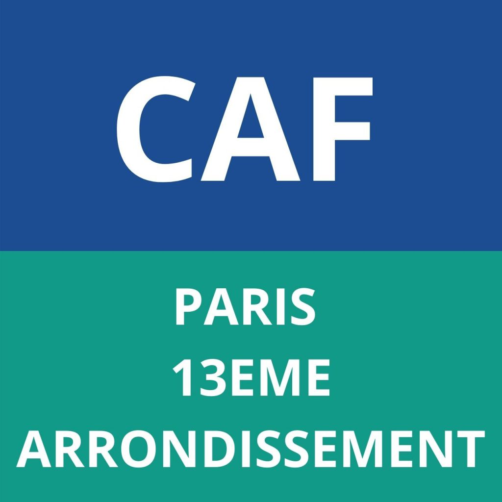 caf PARIS - 13EME ARRONDISSEMENT