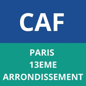 caf PARIS - 13EME ARRONDISSEMENT