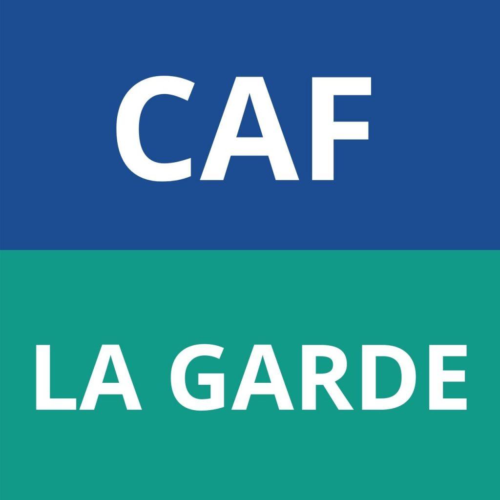 caf LA GARDE logo