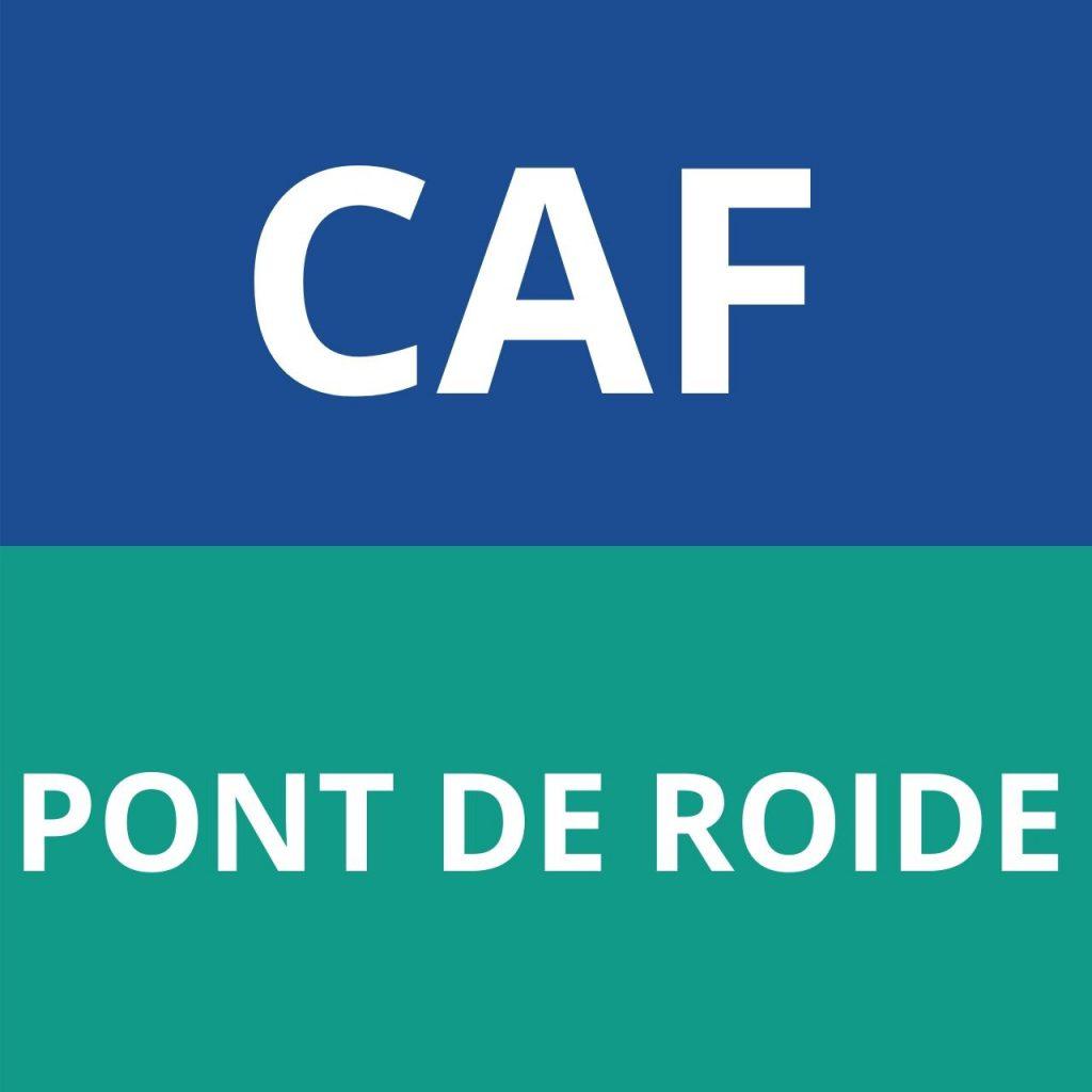 CAF PONT DE ROIDE