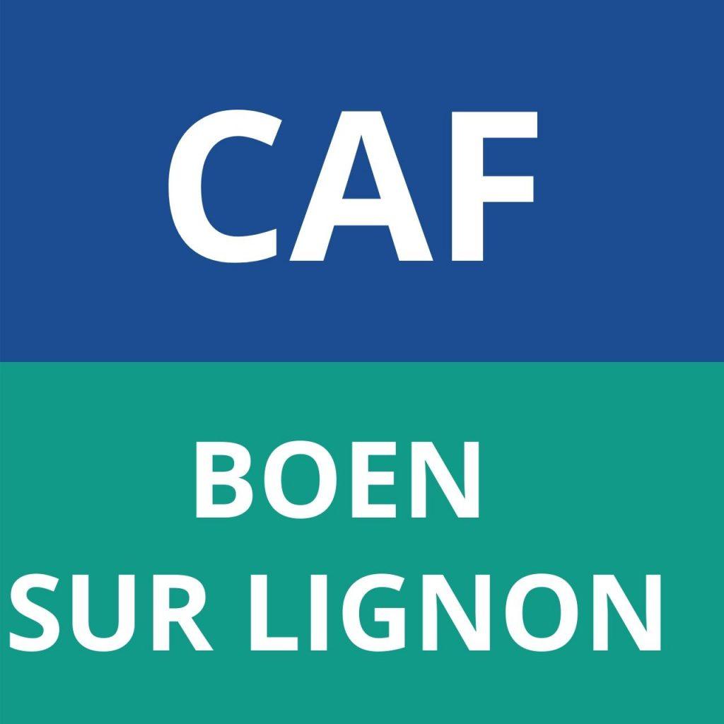 caf BOEN SUR LIGNON