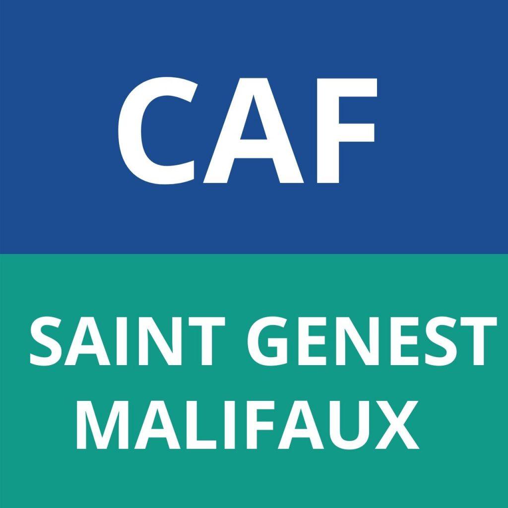 caf SAINT GENEST MALIFAUX