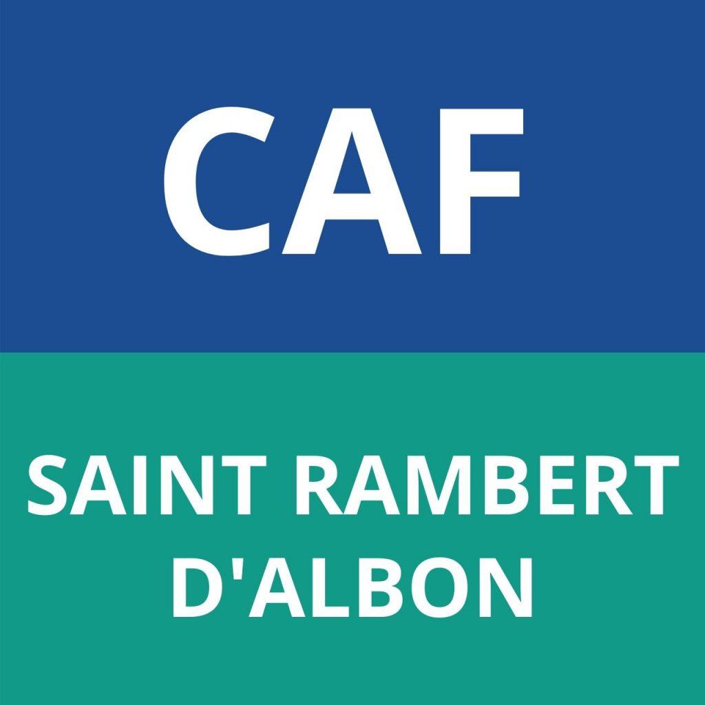 caf SAINT RAMBERT D'ALBON
