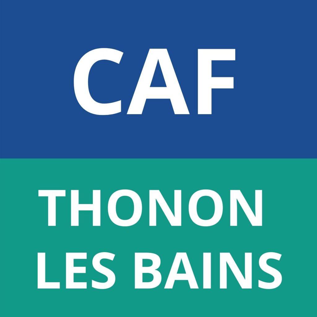 CAF THONON LES BAINS