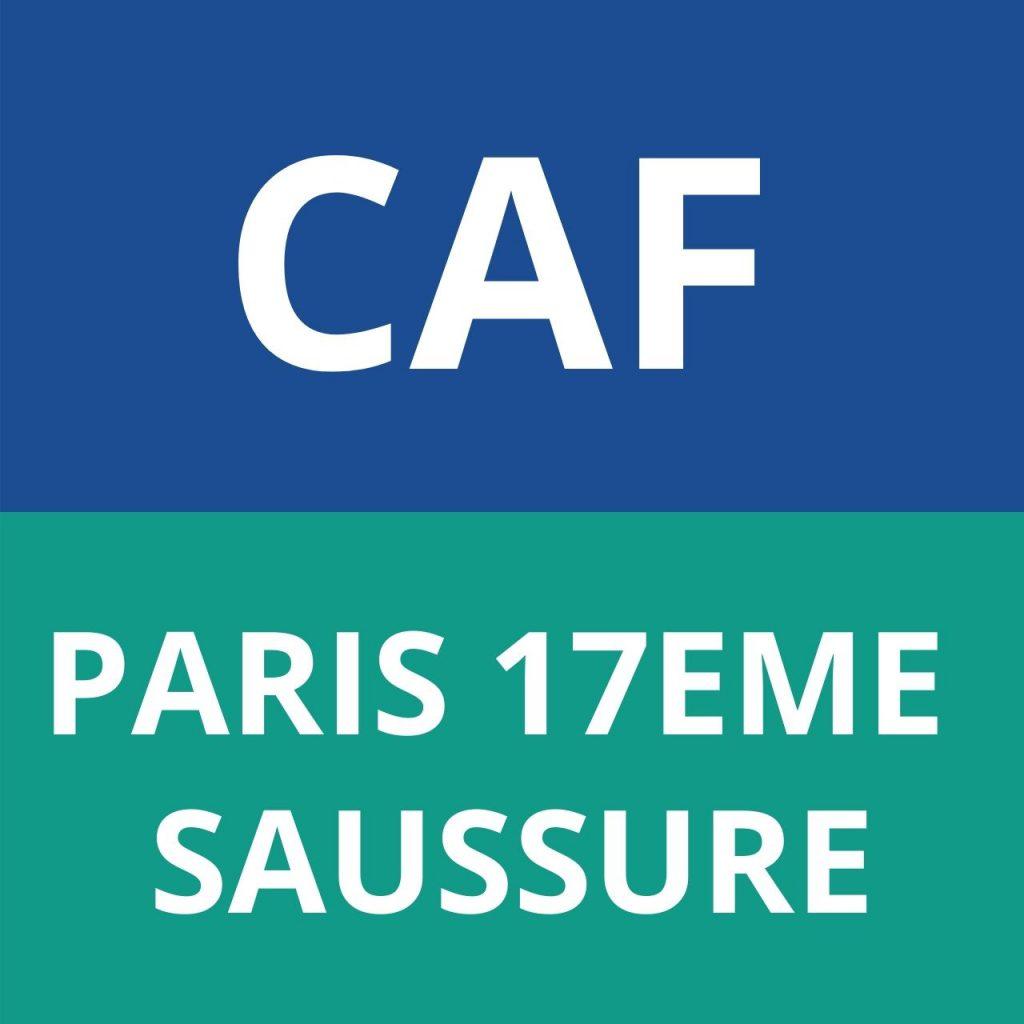 CAF PARIS 17E SAUSSURE