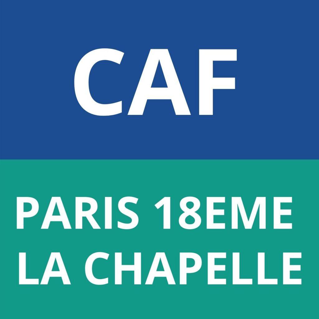 CAF PARIS 18EME LA CHAPELLE